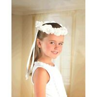 Wedding And Bridal Flower Girl Head Wreath Party Supplies Favors Floral White