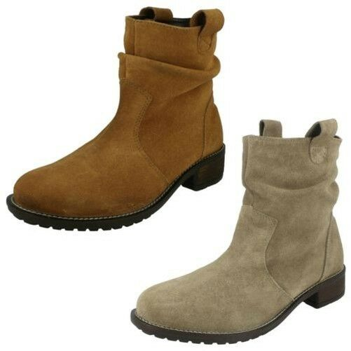 Damen Leather Collection Mittelhoch 'Slouch Stiefel'