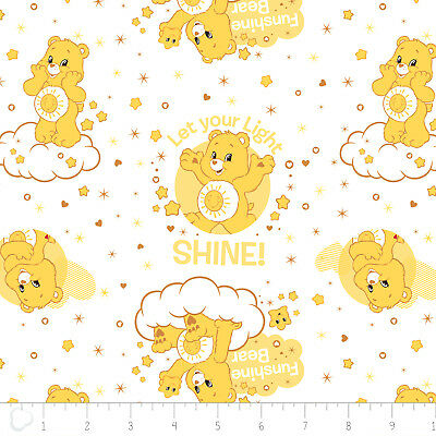 Care Bears Grumpy Bear Navy Camelot 100/% cotton fabric by the yard