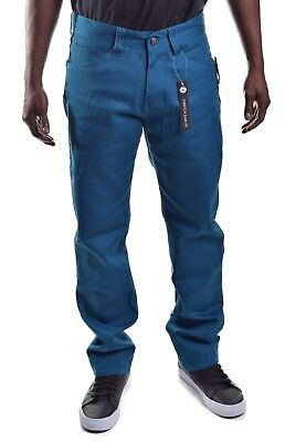 Akademiks Men/'s $50 Stretch Slim Fit Teal Blue Denim Jeans Choose Size