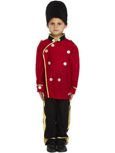 Boys Busby Guard Fancy Dress Costume Royal Soldier Uniform London Child Outfit