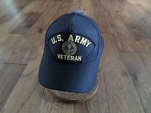 6c5db0a75 Details about U.S MILITARY ARMY VETERAN HAT U.S MILITARY OFFICIAL BALL CAP  U.S.A MADE