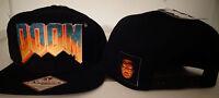 Doom Logo Bethesda Video Game Snap Back Black Hat