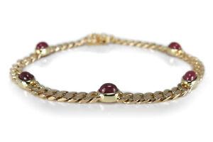 Armband-Rubin-Cabochonschliff-insg-ca-1-0-ct-585-Gelbgold-BRORS-15380