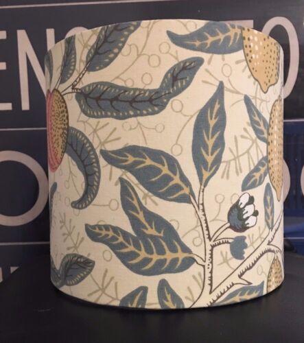 NEW HANDMADE WILLIAM MORRIS /'FRUITS/'  FABRIC LAMPSHADE POMEGRANITE LEMONS LEAVES