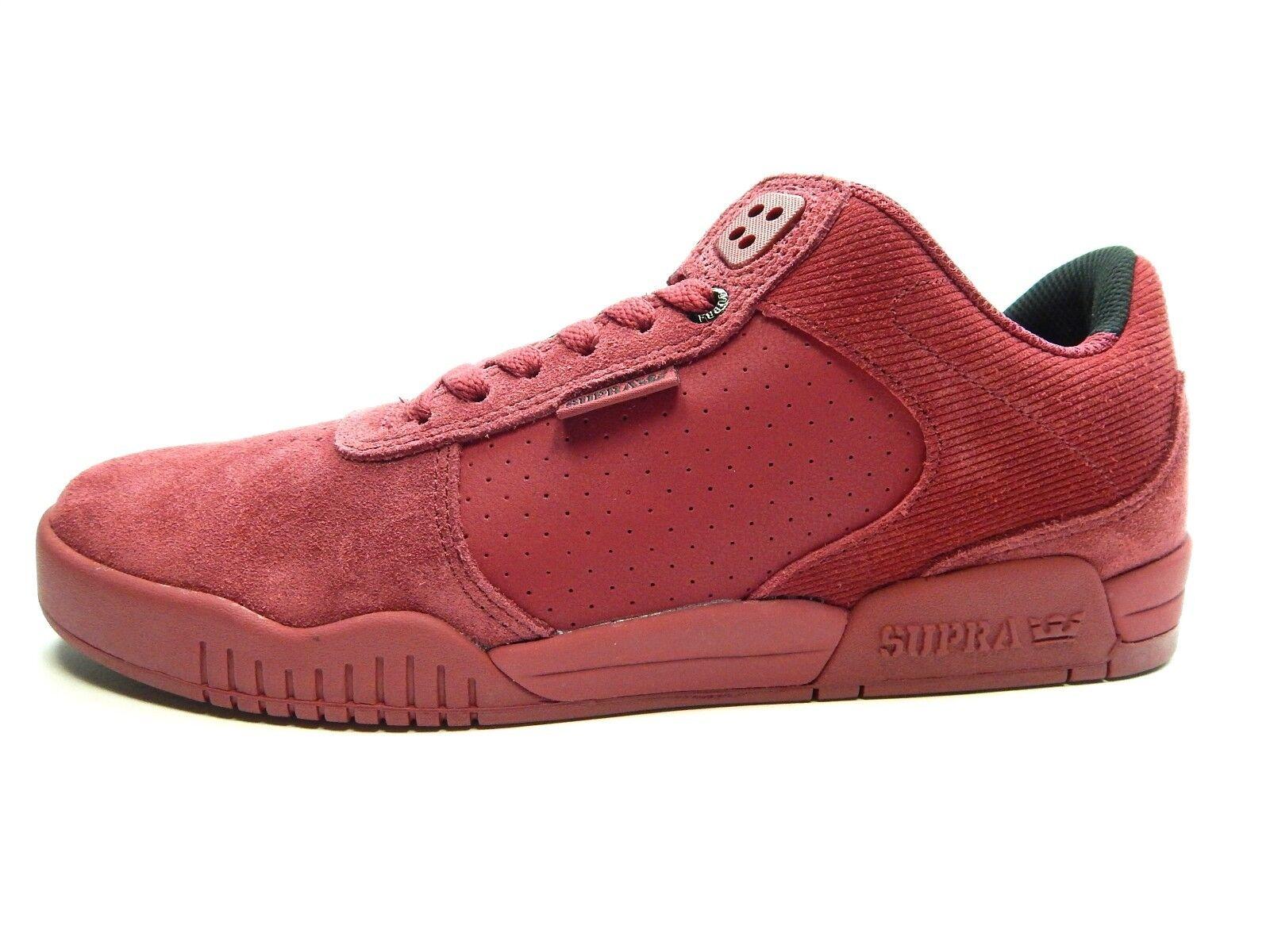 SUPRA ELLINGTON 08114-642 Oscuro Rubí hombres zapatos talla 10