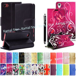 For-Various-Sony-Xperia-Phones-PU-Leather-Book-Side-Flip-Case-Cover