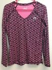 Under Armour Women's Long Sleeve Shirt Pink Heat Gear Fitted Size Small