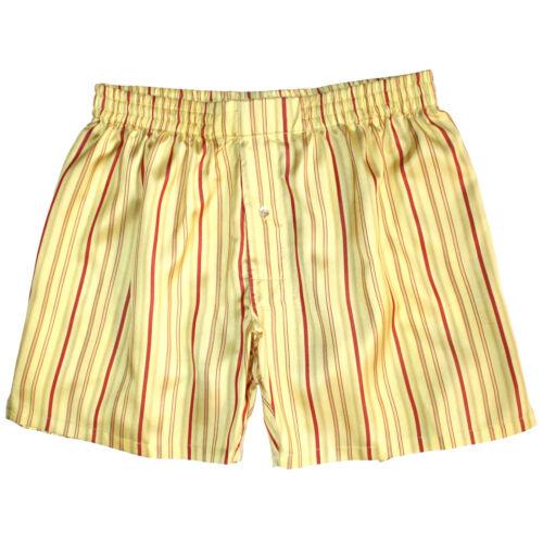 NEW Royal Silk® Gold Yellow Stripes Men/'s Silk Boxers S-3XL
