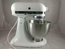 Kitchenaid Classic Plus Ksm75wh 4 5qt Tilt Head Stand Mixer White For Sale Online Ebay