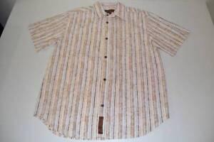 Shirt Buffet gestreepte herenmaat groot bruin Jimmy L Margaritaville Hawaiian Xw6AUq
