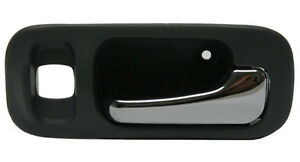 for Honda CRV Inside Inner Interior Door Handle Front Left Black Chrome Lever