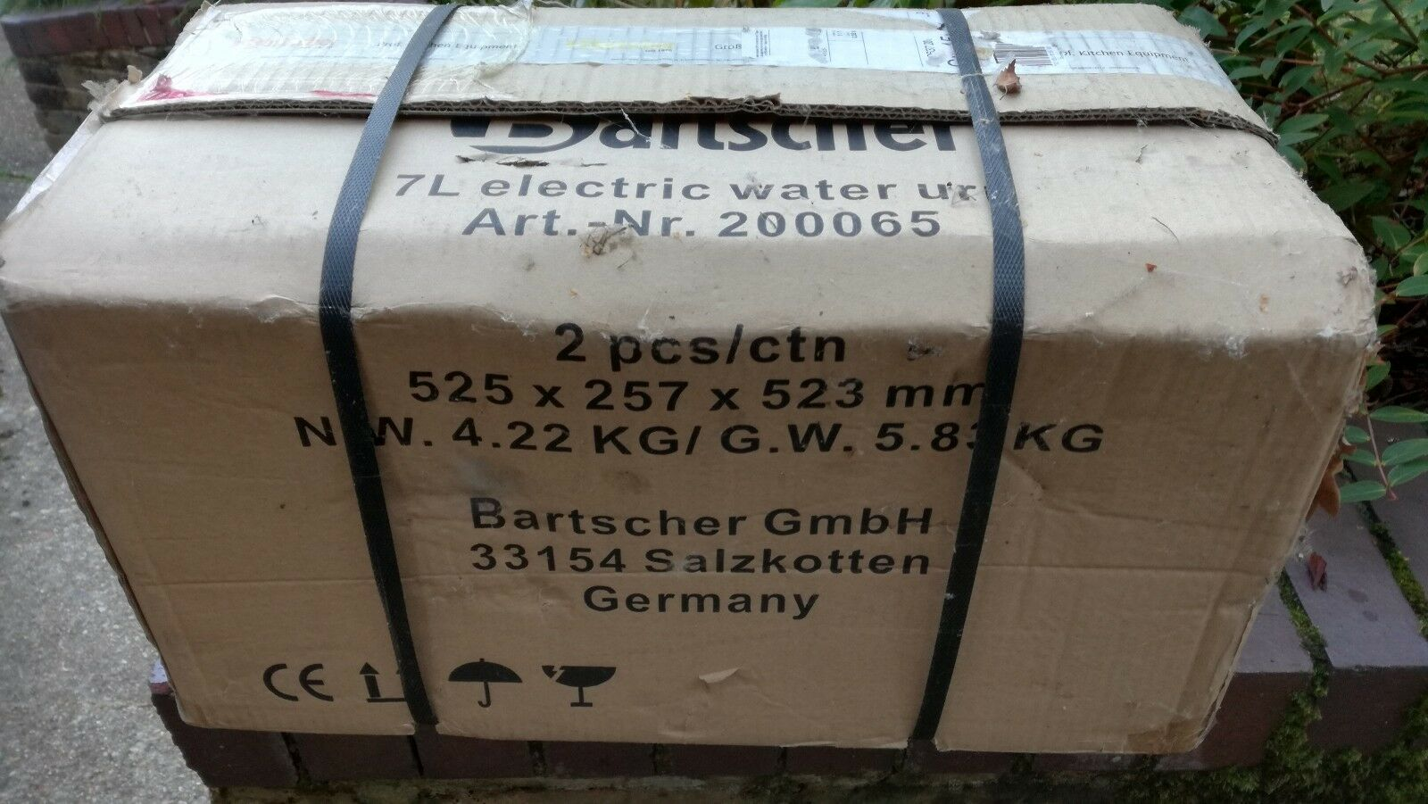 Bartscher 200065  7 litre electric  hot water soup punch mulled wine heater