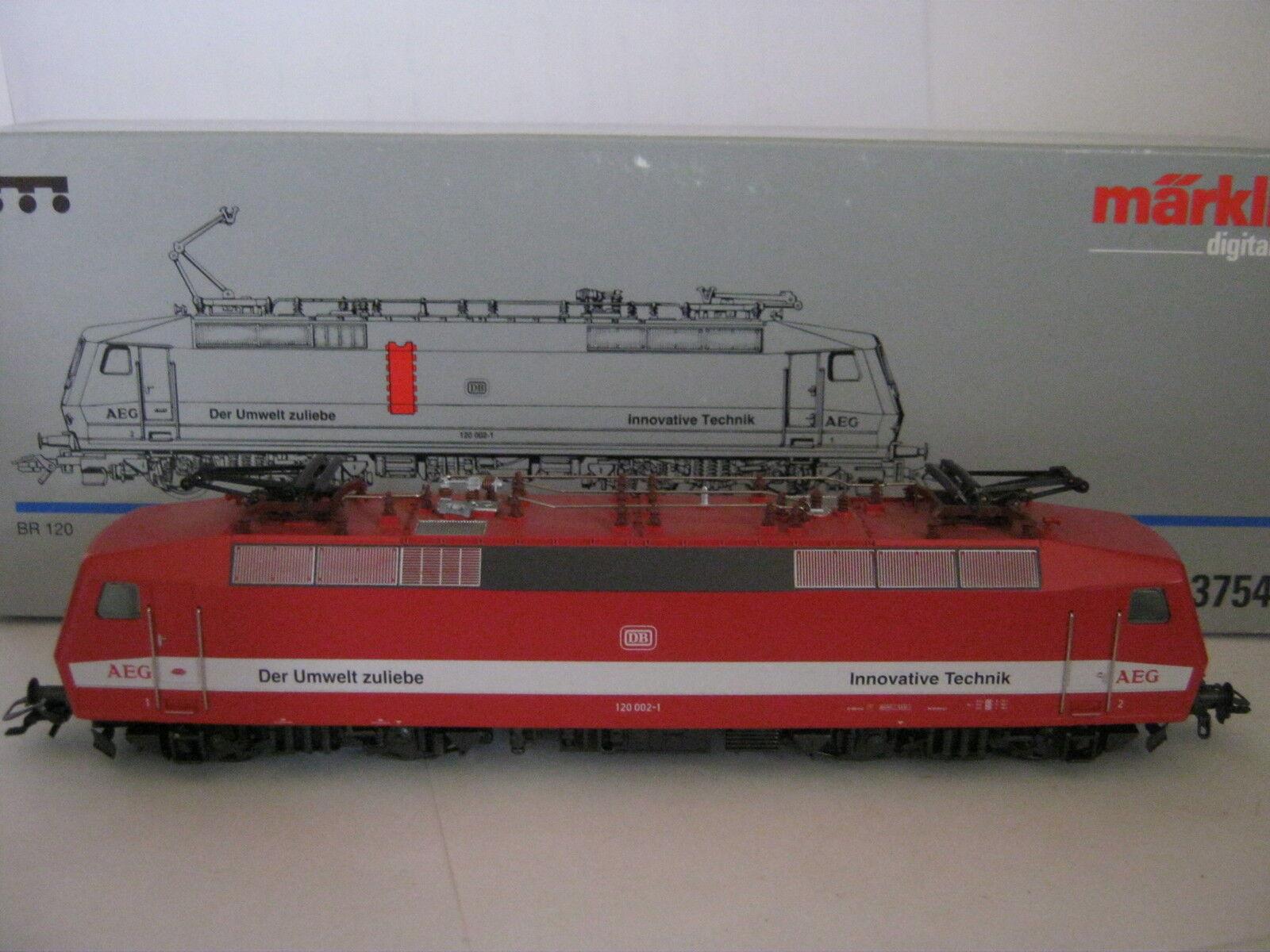Digital Märklin ho 3754 Elektro-Lok kbtrnr 120 002-1 DB de medio ambiente (rg ax 76s1)