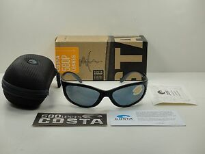 e165bd2734 COSTA DEL MAR POLARIZED SUNGLASSES FATHOM FA11 OGP BLACK FRAME GRAY ...