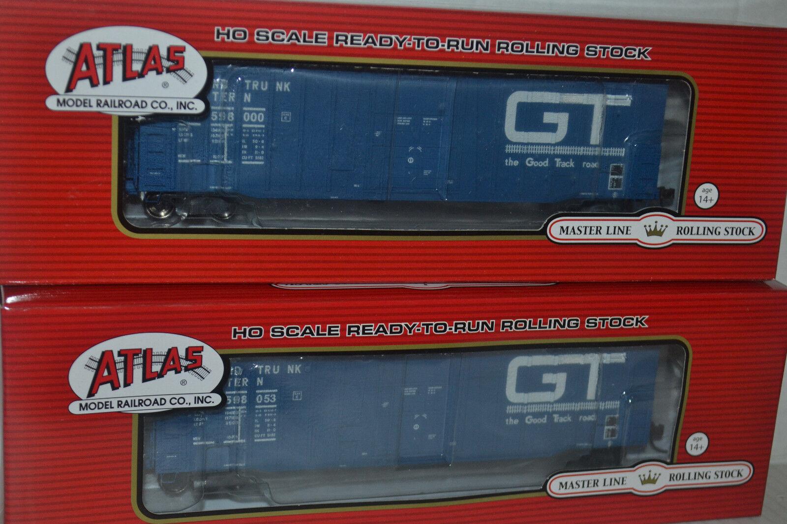 2 Atlas GTW Grand Trunk Western NSC 5182 Plug Door Box Car Ho Scale