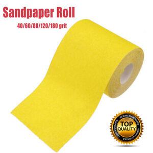 Schmirgelpapier-Rolle-5m-Schleifmittel-Korn-40-60-80-120-180Splitt-Schleifpapier