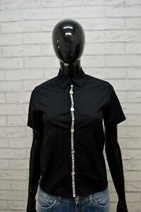 BIKKEMBERGS-Donna-Camicia-Camicetta-Taglia-XS-Maglia-T-Shirt-Nero-Elastica-Woman