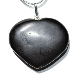 "CHARGED Himalayan Black Tourmaline Crystal HEART Perfect Pendant™ + 20"" Chain"