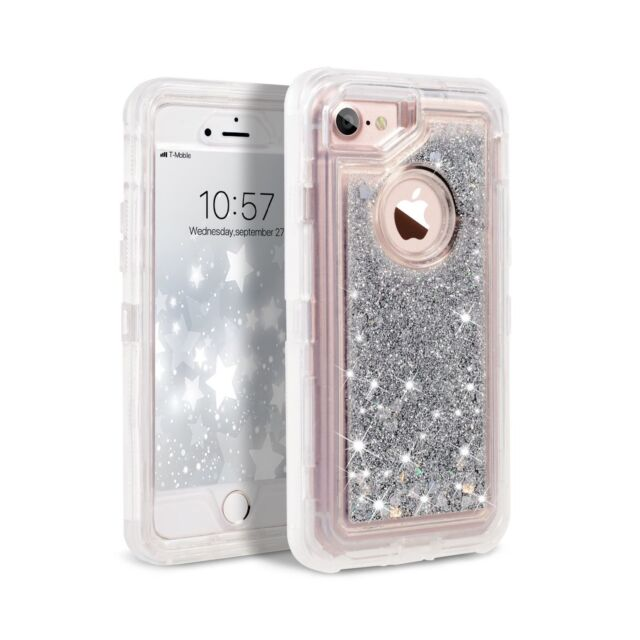 Iphone 8 Case 7 6s Dexnor Glitter 3d Bling Silver For Sale Online Ebay