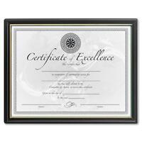 Burnes Home Accents Certificate Frame Plastic Face 8-1/2x11 Black/gold Frame