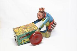 Peter-Pan-Toys-Banana-Joe-Monkey-Excellent-Rare-Clockwork-Item-1950s