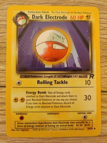 Pokemon Card Dark Electrode 34//82 Team Rocket Mint