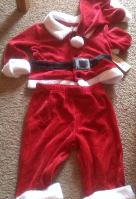 e676fe75d Buy Cherokee Red Velvet Christmas Holiday 3pc Santa Outfit W/hat NB ...
