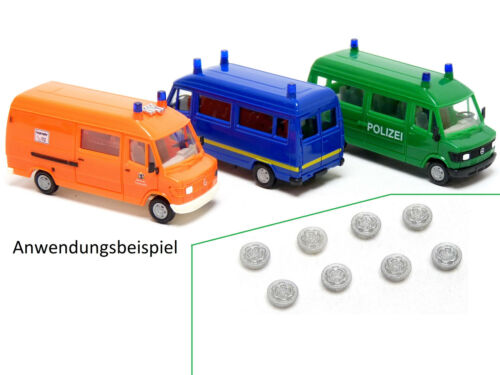 "Mickon 90040 8x Stahlfelgen passend Herpa MB 207 T1 /""Bremer Transporter/"" 1:87 H0"