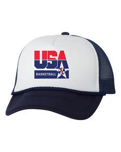 eecb22da3639c USA Basketball Logo Mesh Trucker Hat Cap Snapback Adjustable New ...