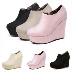 Women's Round Toe Side Zip Ankle Boots