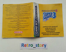 Nintendo Game Boy Advance GBA Super Mario Advance 4 Notice / Instruction Manual