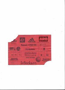 1.fc Norimberga-VfL Bochum, 11.11.1998, biglietto da collezione, 1. lega federale 98/99