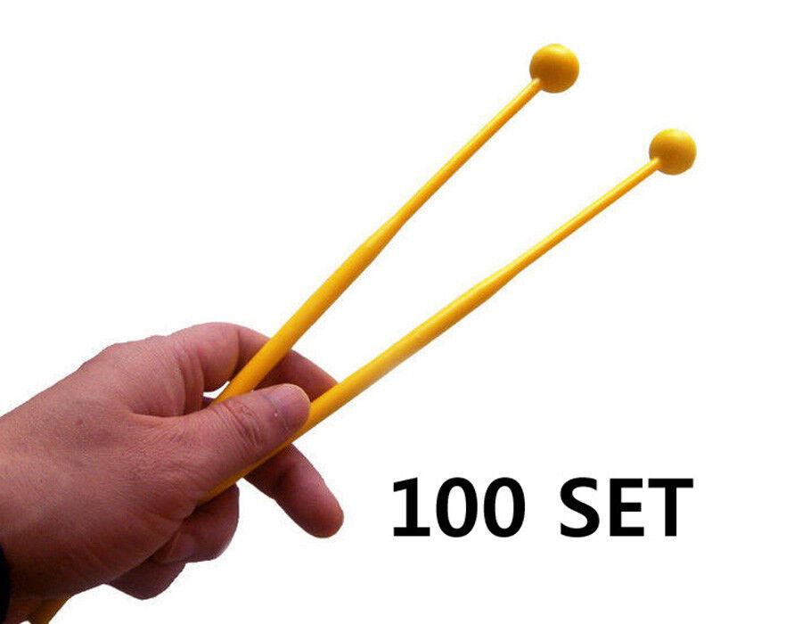 100 Set of Glockenspiel Mallet   Xylophone Plastic Beater Wholesale