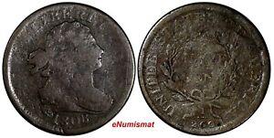 US Copper 1808 DRAPED BUST HALF CENT 1/2 c. (13 764)