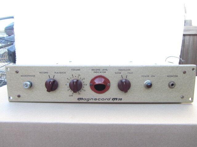Magnecord M30 C tube recording preamp Triad Ampex 32-B-8