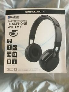 Soundlogic Xt Stereo Bluetooth Headphones With Mic Foldable Design Black Ebay
