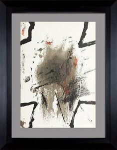 Antoni-TAPIES-Original-1969-LIMITED-Edition-Lithograph-Custom-ARCHIVAL-FRAMING