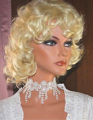 Halsband Kropfband Choker zur Hochzeit Spitze zartcrem Burlesque vintage Borte
