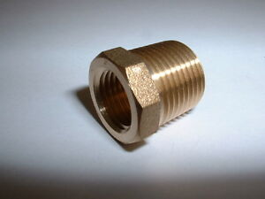 SOLID-BRASS-3-8-034-BSPT-MALE-REDUCER-TO-1-4-034-BSP-FEMALE-GAUGE-ADAPTER-REDUCING-BUSH