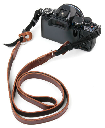 Genuine Leather Neck Shoulder  Strap For the Nikon Coolpix B700 Bridge Camera