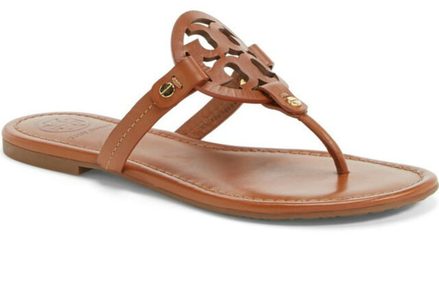 NIB Tory Burch Miller Leather Thong Sandal Vintage Vachetta 7 7.5 8 8.5 9 9.5 10