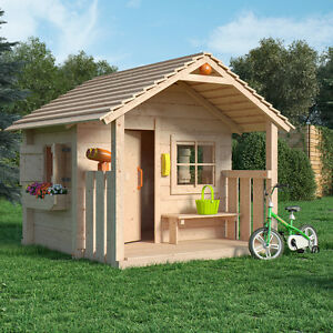 colin castle spielhaus kinderspielhaus gartenhaus holz haus mit terrasse veranda 4251421900134. Black Bedroom Furniture Sets. Home Design Ideas