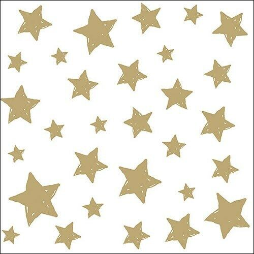5  x   Paper Napkins for Swirling Stars Gold Napkin Craft