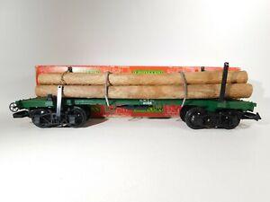LGB-G-Scale-Flat-Car-With-Logs-4066-C-161