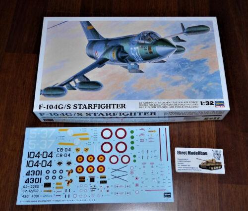 Spanish Air F104G//S World Starfighter 1:32 Hasegawa 08061 Neu Italian Taiwan