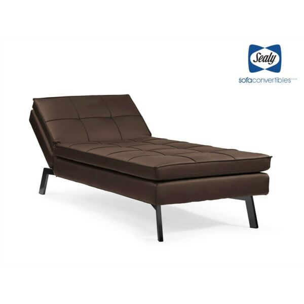 Outstanding Sealy Brooklyn Transitional Chaise Convertible In Aspen Slate For Sale Online Ebay Gmtry Best Dining Table And Chair Ideas Images Gmtryco