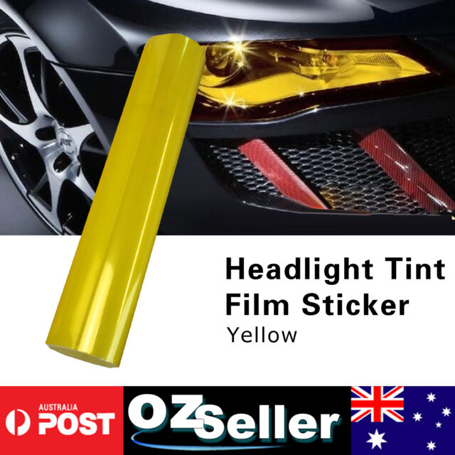 2pcs A4 Yellow Smoke Film Tint Headlight Fog Tail light Lamp Vinyl 21cm x 30cm