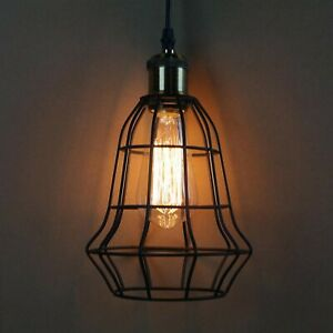 Modern-Kaefig-Decken-Haengeleuchte-Industriell-Retro-Stil-Haengeleuchte-Lichter