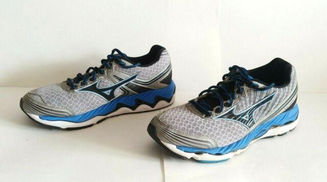 Men's MIZUNO WAVE PARADOX 2 Premium Running Shoes Silver Blue Size 8.5 JGC154009